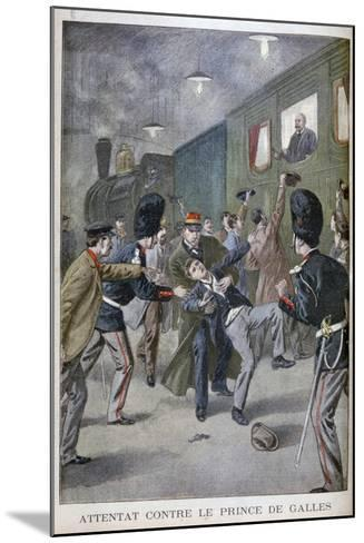 Attempted Attack on Edward, Prince of Wales in Brussels, 1900--Mounted Giclee Print