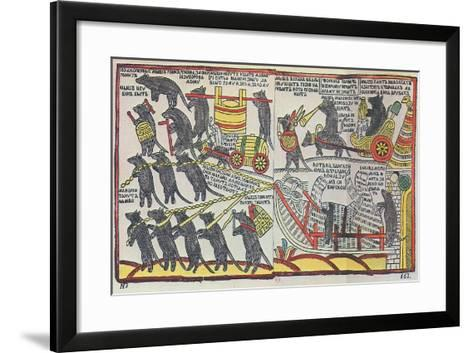 The Mice are Burying the Cat, Lubok Print, 1760--Framed Art Print