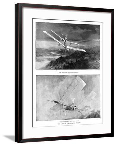 SP Langley's Steam-Powered Model Plane 'Aerodrome' Viewed from Above and Below, 1902--Framed Art Print