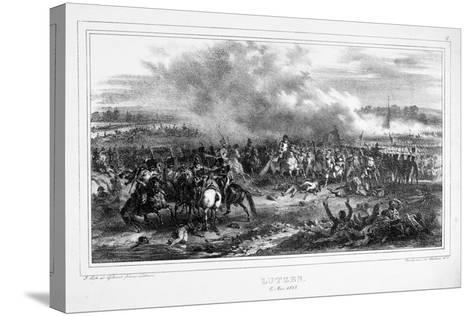 Battle of Lutzen, 2 May 1813--Stretched Canvas Print