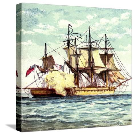 Chesapeake and Shannon, 1812--Stretched Canvas Print