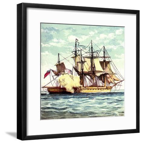 Chesapeake and Shannon, 1812--Framed Art Print