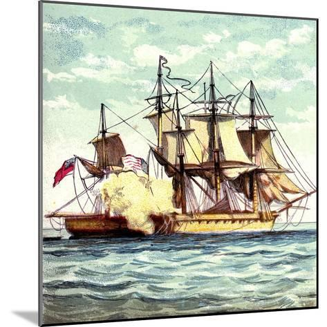 Chesapeake and Shannon, 1812--Mounted Giclee Print