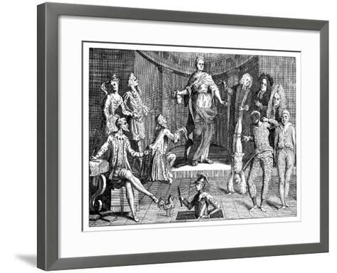 The Judgement of the Queen's Common Sense, 1736--Framed Art Print