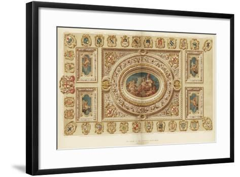 The Ceiling of the Aldermen's Court Room, Guildhall, City of London, 18th Century-James Thornhill-Framed Art Print