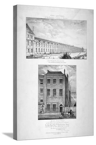 National Gallery, 100 Pall Mall, Westminster, London, C1825--Stretched Canvas Print