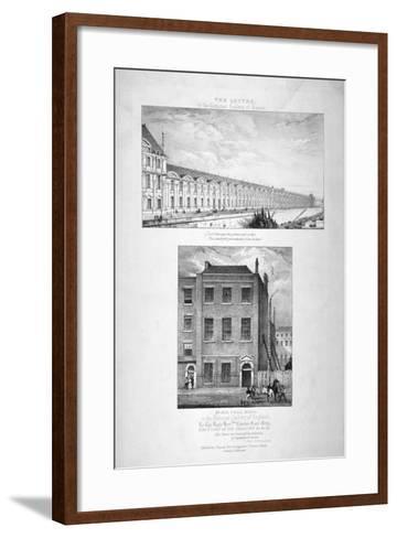 National Gallery, 100 Pall Mall, Westminster, London, C1825--Framed Art Print