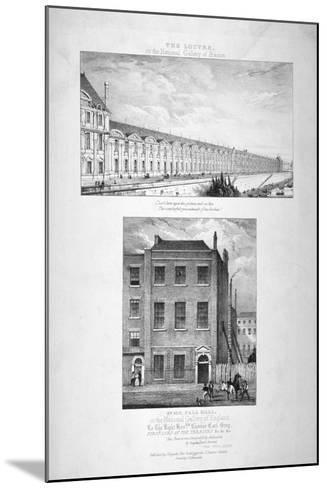 National Gallery, 100 Pall Mall, Westminster, London, C1825--Mounted Giclee Print