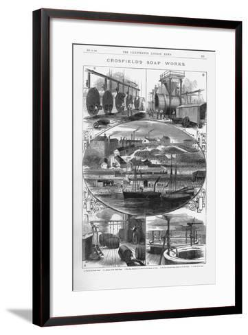 Joseph Crosfield and Son's Soap Factory at Bank Quarry, Warrington, Cheshire, 1886--Framed Art Print