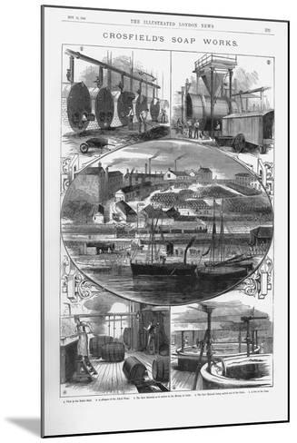 Joseph Crosfield and Son's Soap Factory at Bank Quarry, Warrington, Cheshire, 1886--Mounted Giclee Print