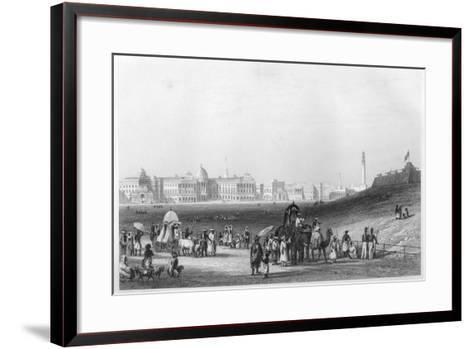 View of Calcutta from the Esplanade, C1860--Framed Art Print
