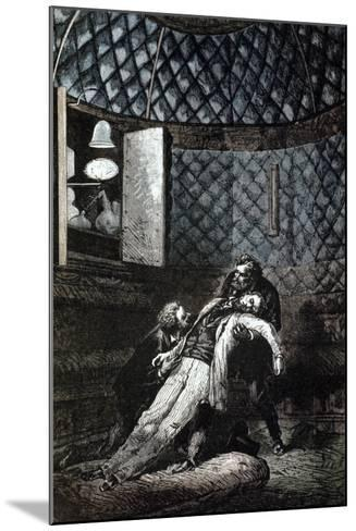Illustration from De La Terre a La Lune by Jules Verne, 1865--Mounted Giclee Print