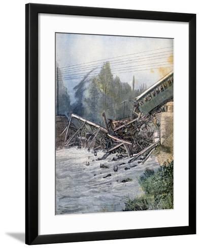 Railway Accident, Munchenstein, Switzerland, 14th July 1891--Framed Art Print