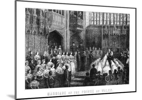 Marriage of the Prince of Wales, St George's Chapel, Windsor on 10 March 1863--Mounted Giclee Print