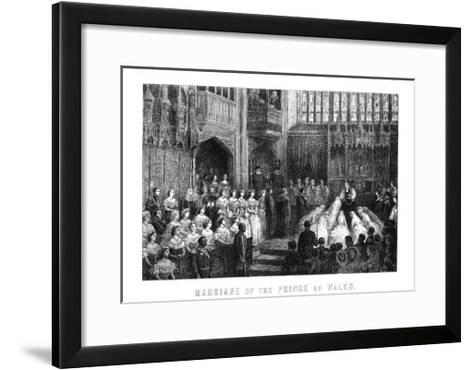 Marriage of the Prince of Wales, St George's Chapel, Windsor on 10 March 1863--Framed Art Print