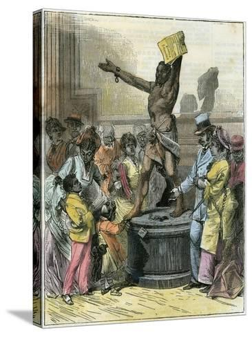 The Freed Slave, Statue in Memorial Hall, Centennial Exhibition, Philadelphia, USA, C1876--Stretched Canvas Print
