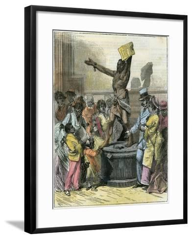 The Freed Slave, Statue in Memorial Hall, Centennial Exhibition, Philadelphia, USA, C1876--Framed Art Print