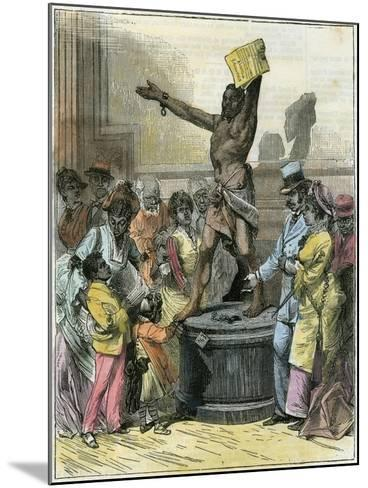 The Freed Slave, Statue in Memorial Hall, Centennial Exhibition, Philadelphia, USA, C1876--Mounted Giclee Print