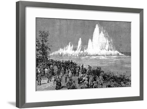 Blowing Up Flood Rock, 1885-C Graham-Framed Art Print