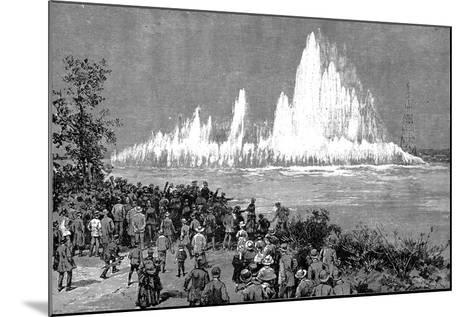 Blowing Up Flood Rock, 1885-C Graham-Mounted Giclee Print