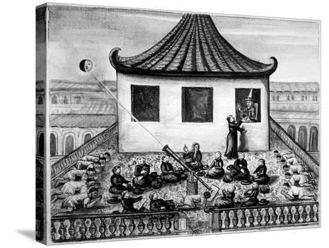 Missionaries Showing the King of Siam a Solar Eclipse--Stretched Canvas Print