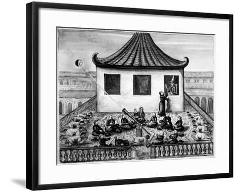 Missionaries Showing the King of Siam a Solar Eclipse--Framed Art Print