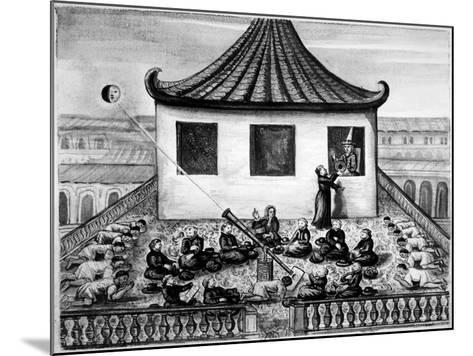 Missionaries Showing the King of Siam a Solar Eclipse--Mounted Giclee Print