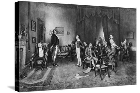 The Meeting of Burns and Scott, C1786--Stretched Canvas Print