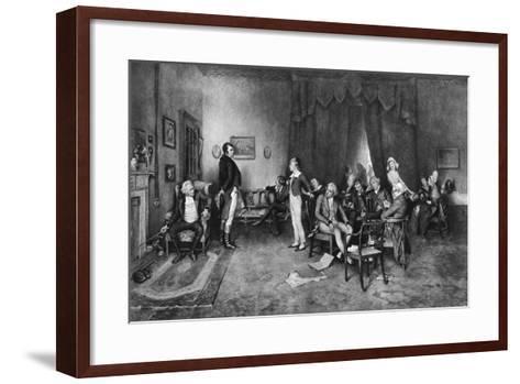 The Meeting of Burns and Scott, C1786--Framed Art Print