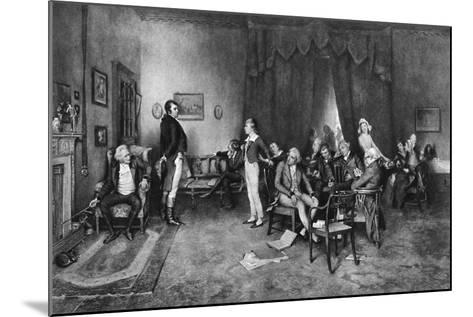 The Meeting of Burns and Scott, C1786--Mounted Giclee Print