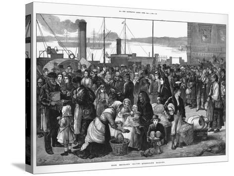Irish Emigrants Leaving Queenstown (Cob), the Port for Cork, for the United States, 1874--Stretched Canvas Print