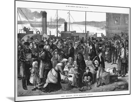 Irish Emigrants Leaving Queenstown (Cob), the Port for Cork, for the United States, 1874--Mounted Giclee Print