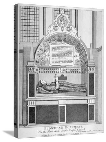 Memorial to Edmund Plowden, Treasurer of the Middle Temple, Temple Church, City of London, 1794--Stretched Canvas Print