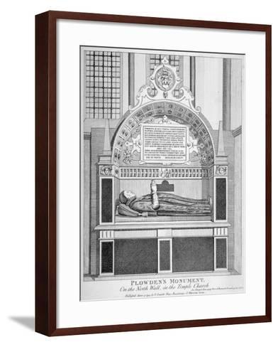 Memorial to Edmund Plowden, Treasurer of the Middle Temple, Temple Church, City of London, 1794--Framed Art Print