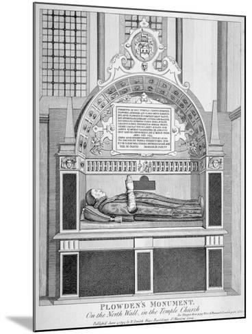 Memorial to Edmund Plowden, Treasurer of the Middle Temple, Temple Church, City of London, 1794--Mounted Giclee Print