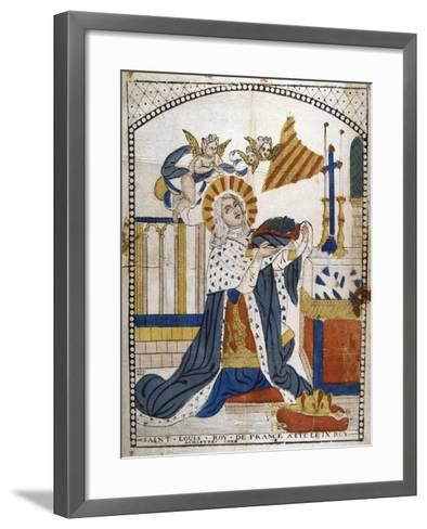 Louis IX, King of France, in Chartres Cathedral in His Coronation Robes, 1226--Framed Art Print