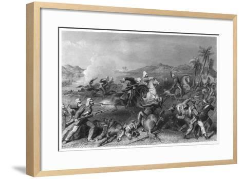 Attack on the Sealkote Mutineers by General Nicholson's Irregular Cavalry, 1857--Framed Art Print