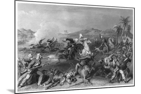 Attack on the Sealkote Mutineers by General Nicholson's Irregular Cavalry, 1857--Mounted Giclee Print