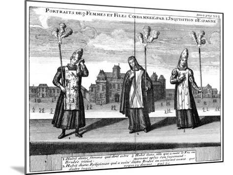 Portraits of 3 Women and Girls Condemned by the Spanish Inquisition, 1759--Mounted Giclee Print