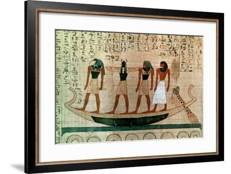 Ancient Egyptian Papyrus, 11th-10th Century Bc--Framed Art Print