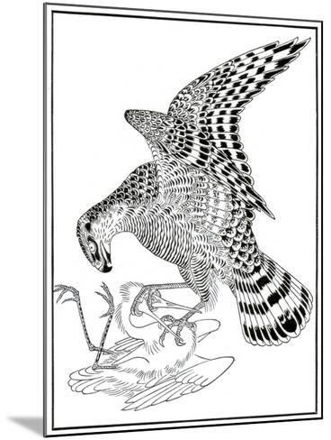 Falcon and Egret, 16th Century-Soga Chokuna-Mounted Giclee Print