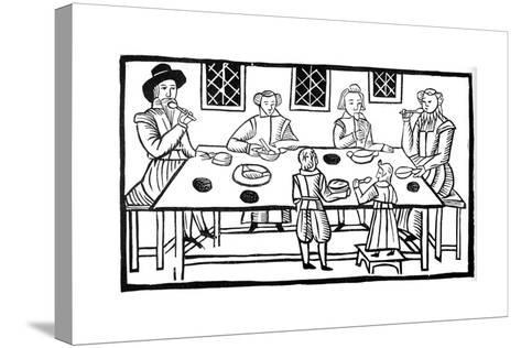 A Family Meal, Early 17th Century--Stretched Canvas Print