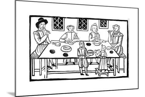 A Family Meal, Early 17th Century--Mounted Giclee Print