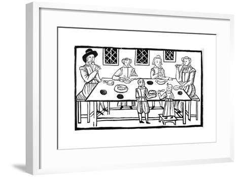 A Family Meal, Early 17th Century--Framed Art Print