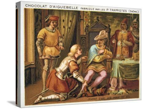 Joan of Arc at the Feet of Charles VII, C1429, (Late 19th Centur)--Stretched Canvas Print