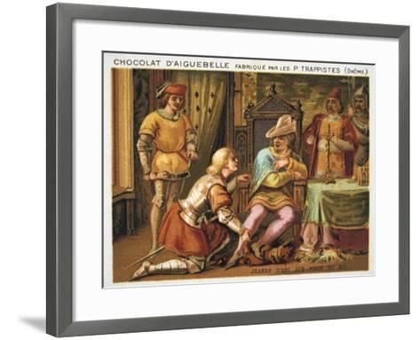 Joan of Arc at the Feet of Charles VII, C1429, (Late 19th Centur)--Framed Art Print