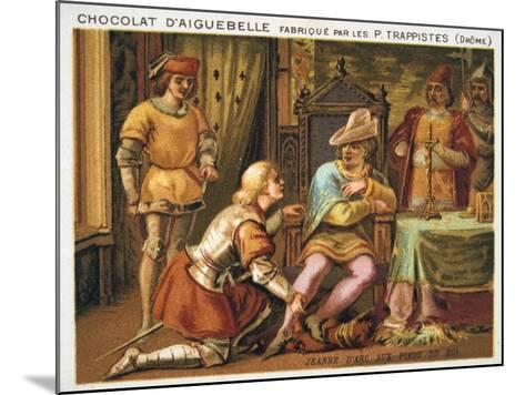 Joan of Arc at the Feet of Charles VII, C1429, (Late 19th Centur)--Mounted Giclee Print