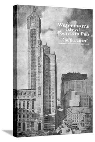 Advertisement for Waterman's Ideal Founain Pen, 1908-1909--Stretched Canvas Print