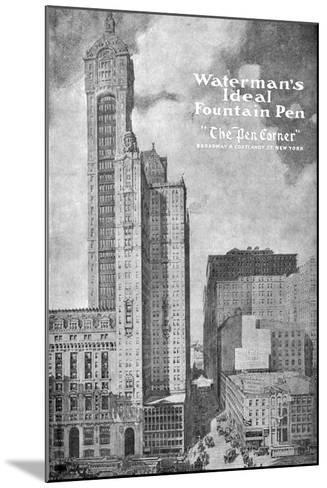 Advertisement for Waterman's Ideal Founain Pen, 1908-1909--Mounted Giclee Print