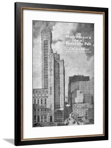 Advertisement for Waterman's Ideal Founain Pen, 1908-1909--Framed Art Print